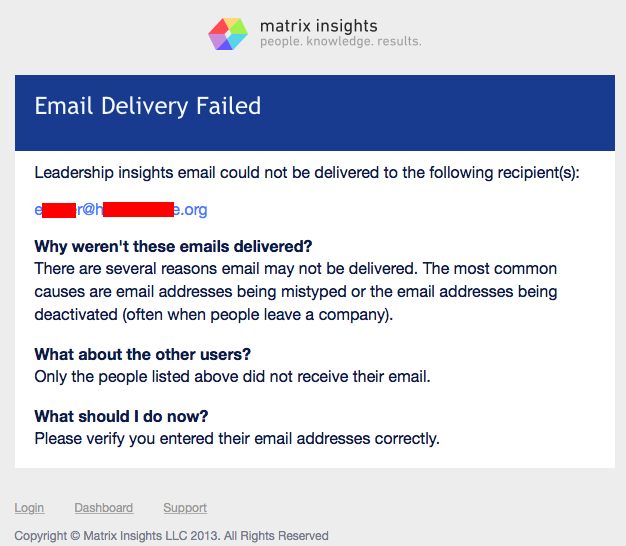 Email Delivery Failed Admin